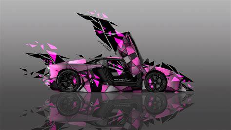 lamborghini aventador side transformer abstract car