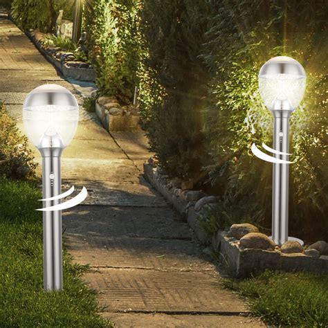 Led Sockel Steh Lampe Garten Weg Bewegungsmelder Außen