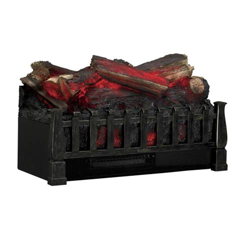 duraflame electric fireplace insert lowes shop duraflame 20 5 in w 4600 btu brown electric fireplace