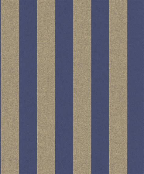 Rasch Tapete Blau by Tapete Streifen Blau Gold Vliestapete Rasch Textil