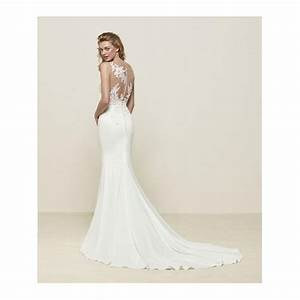pronovias drenoa sweetheart neckline with lace illusion With sweetheart neckline wedding dress lace