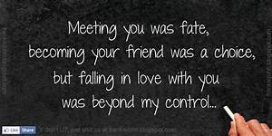 Meeting You Was Fate Quotes   www.pixshark.com - Images ...