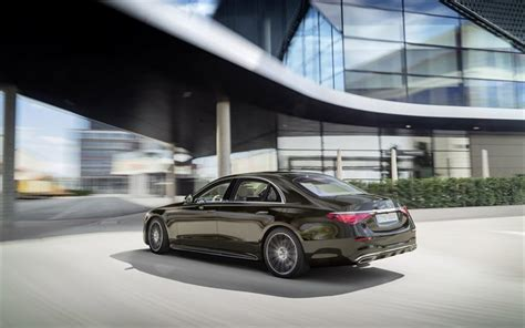 Eqs also shown in camouflage, both luxury sedans debut this year. Download wallpapers 2021, Mercedes-Benz S-Class, 4k, exterior, rear view, new brown S-Class ...