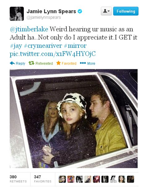 What Does This Tweet From Jamie Lynn Spears To Justin ...