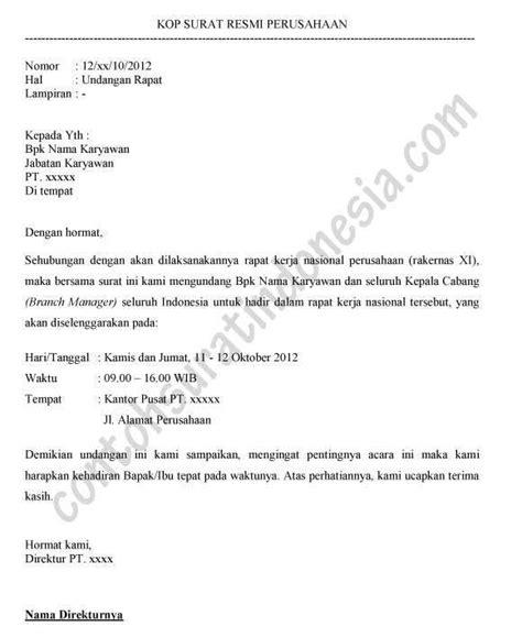 Contoh Surat Undangan Resmi Perusahaan by Contoh Email Undangan Contoh Isi Undangan