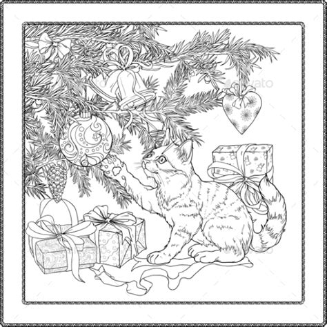 christmas coloring pages   vector eps jpeg