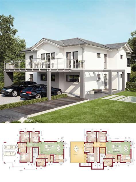 Moderne Häuser Bauen Mit Satteldach by Modernes Zweifamilienhaus Mit Einliegerwohnung