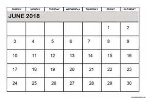 June 2018 Calendar Printable Org