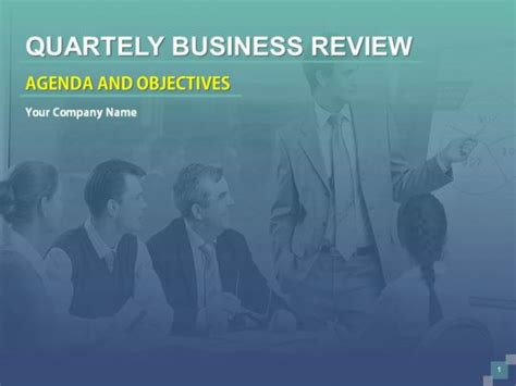 quarterly business review agenda  objectives powerpoint
