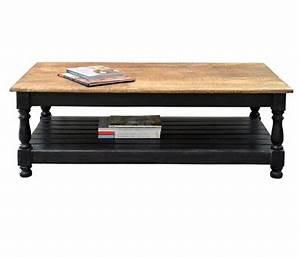 Table Basse Bois Et Noir : meubles manguier et bois recycle ~ Teatrodelosmanantiales.com Idées de Décoration