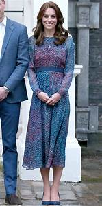 The Duchess opted for L.K. Bennett's jewel-toned silk ...