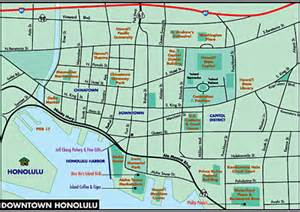 Downtown Honolulu Hawaii Map