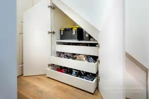 custom home designer stairs storage in surrey