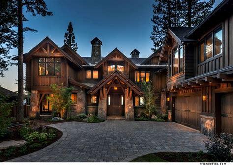 north shore lake tahoe custom home built  nsm construction   house log homes
