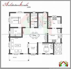 three bedroom house plan and elevation in 2000 sq ft With three bed room house plan