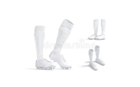 Cuffed soccer cleat mockup (half side view) Blank Sneakers Stock Illustrations - 325 Blank Sneakers ...