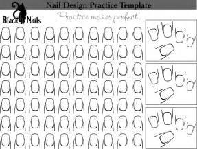 fingernã gel design vorlagen nail design practice sheet new versions black cat nails