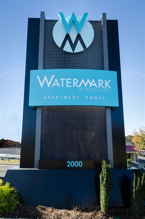 signs by design watermark at east cobb residential signs denyse companies
