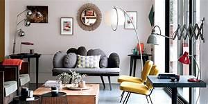 salon moderne mixant les styles marie claire With nice quelle couleur avec du gris 4 la couleur orange pour tous les styles