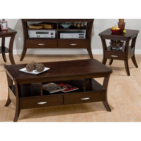 set of 3 table ls jofran joes espresso rectangular 3 coffee table set