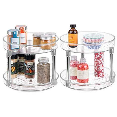 Kitchen Organization Turntable by Mdesign 2 Kitchen Storage Organization Accessories Level