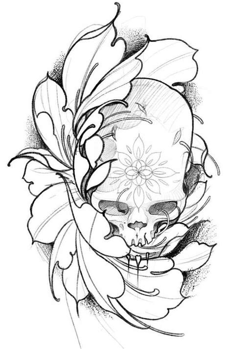 Sketches of Tattoos for Your Вody | Skull tattoo design
