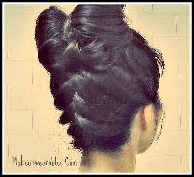 upside  braid bun  hair bow hairstyle french