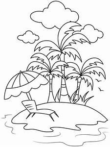 Kostenlose Malvorlage Sommer Sommerurlaub Auf Der