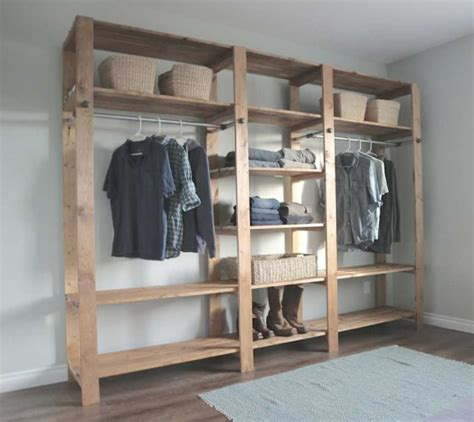 bedroom cheap closet shelving ideas with clothes rods for
