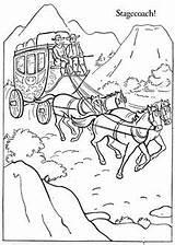 Stagecoach Coloring Template Ausmalbilder sketch template