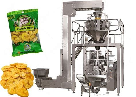 ten head weigher automatic plantain chips packaging machine