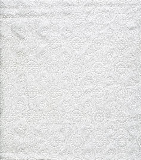 sew classics specialty cotton fabric medallion eyelet
