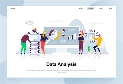 Data analysis modern flat design concept 260851 Vector Art ...