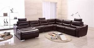 Extra large spacious italian leather sectional sofa in for Large tan sectional sofa
