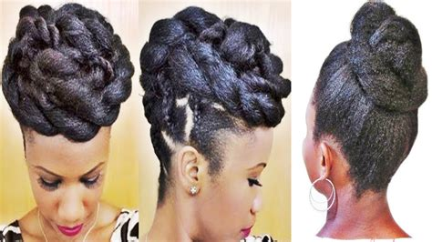 Black Updo Braids Hairstyles by Braids And Twists Updo Hairstyle For Black