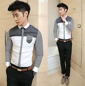 Dress Shirt Men Fashion Style