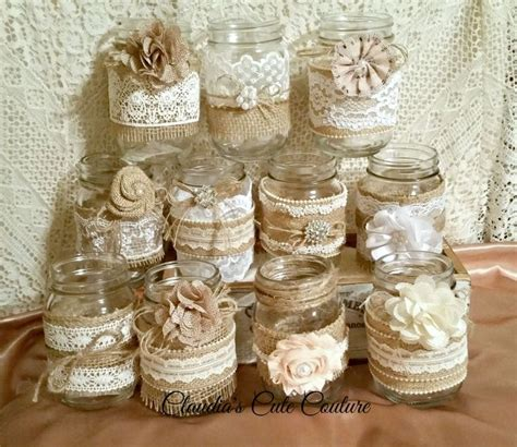 25 unique mason jar burlap ideas on pinterest jar