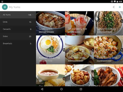 yummly recipes shopping list android apps  google play