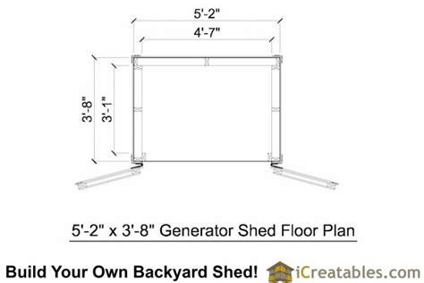 Portable Generator Shed Plans by 5 2 Quot X 3 8 Quot Lean To Generator Enclosure Plans