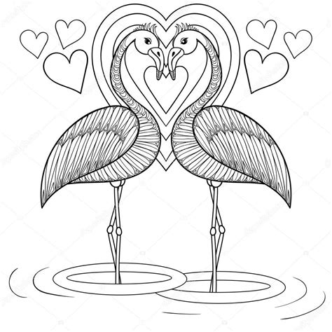Flamingo Kleurplaat by Coloring Page With Flamingo In Zentangle