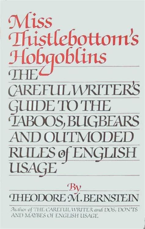 thistlebottoms hobgoblins  careful writers guide