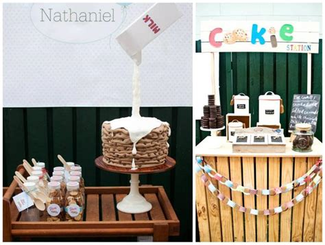 cookies and milk kara 39 s party ideas milk cookies 1st birthday party with such ideas via