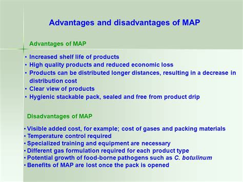 Modified Atmosphere Packaging Disadvantages by Modified Atmosphere Packaging Map And Vacuum Packaging