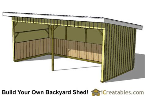 12x24 Portable Shed Plans by 12x24 Run In Shed Plans