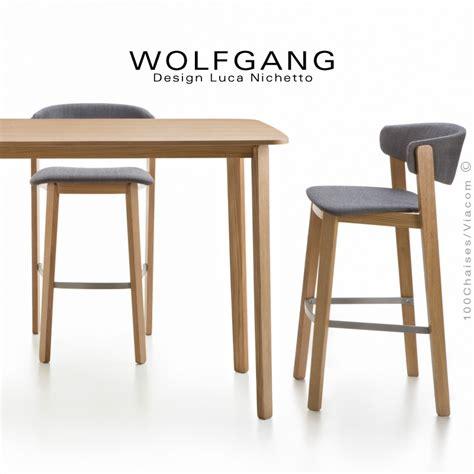 chaise haute pour ilot central tabouret design en bois wolfgang pour cuisine et îlot
