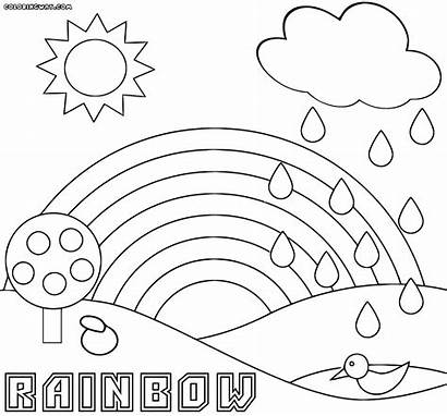 Rainbow Coloring Pages Rain