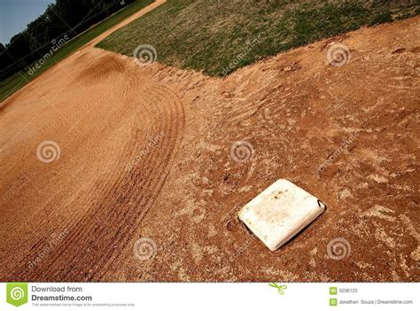 base bag  baseball field stock  image