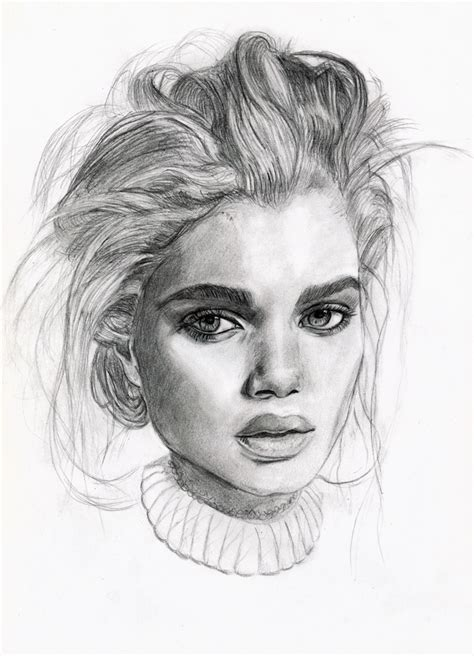 portrait drawing  tomasz mro  deviantart