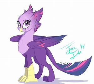 twilight griffon by farewelldecency mlp griffons With letter spike