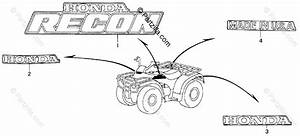 Honda Atv 2000 Oem Parts Diagram For Marks